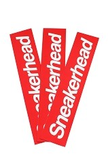 Sneakerhead Bumper Sticker 3-Pack (Red)