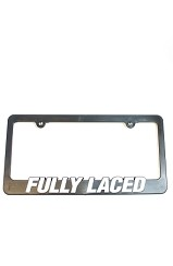 The Fully Laced License Plate Frame
