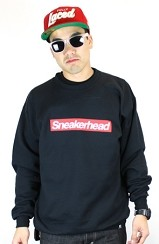 The Sneakerhead Crewneck (Black/Red)