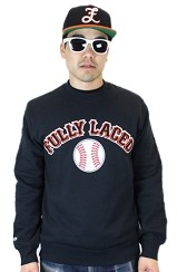The Fully Laced x Mitchell & Ness Baseball Crew (Black)