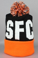 The SFC Pom Beanie (Black/Orange)
