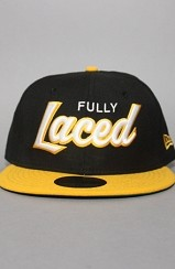 The Fully Laced Fitted Hat (Black/Yellow)