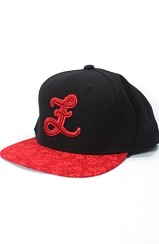 Red Sakura Snapback Hat (Black)