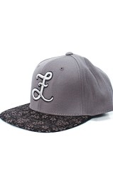 Gray Sakura Snapback Hat (Gray)