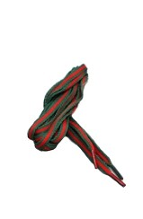 The Classic Striped Laces (Green/Red)