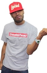 The Sneakerhead Tee (Heather Gry/Red)