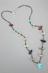 The Tribute Collection Zuni Fetish Turquoise Eagle Necklace