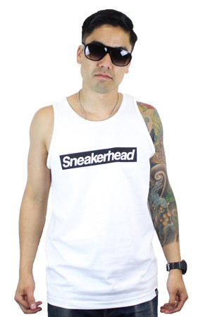 The Sneakerhead Tank (White/Black)