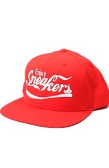 The Enjoy Sneakers Snapback Hat (Red)